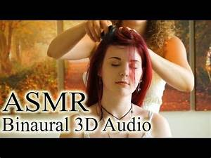 Binaural ASMR Scalp Massage, Hair Brushing & Whisper Ear ...