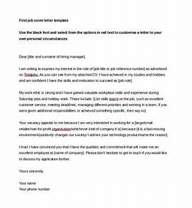 job cover letter template 13 free word pdf documents With how to write a cover letter for your first job