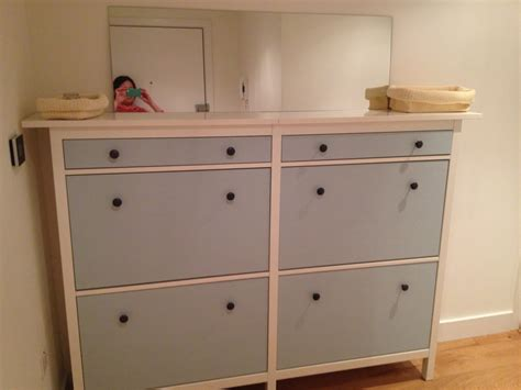 Cabinet Ikea by Wedded Hemnes Shoe Cabinets Twined And Painted Ikea