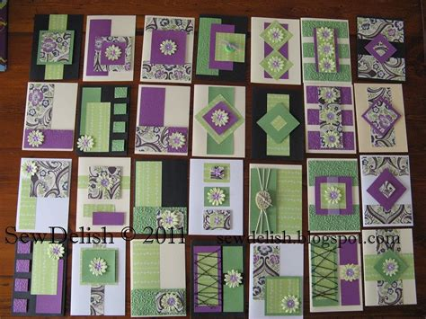sewdelish  cards   sheets  paper   cricut