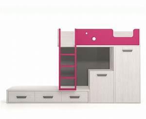 lit superpose avec tiroirs une armoire et un bureau With tapis shaggy avec lit armoire escamotable canape