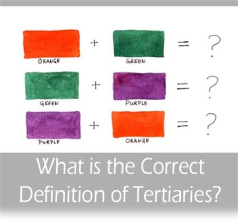 definition of color what is the correct definition of tertiary colors