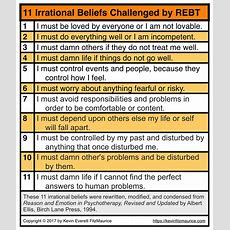 11 Irrational Beliefs Exposed And Examined By Rebt (cbt) Kevinfitzmauricecom