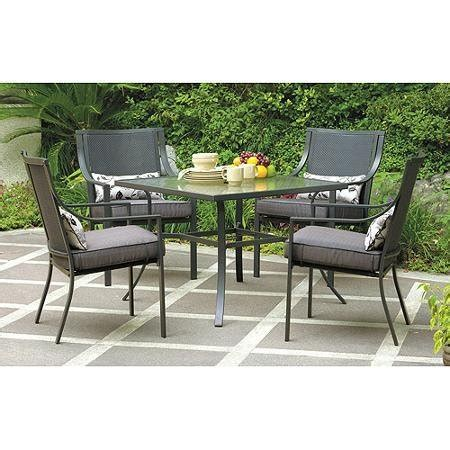 mainstays alexandra square 5 patio dining set seats 4