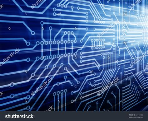 Blue Circuit Board Stock Photo Shutterstock