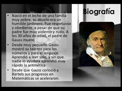 Resumen De Su Biografia by Carl Friedrich Gauss