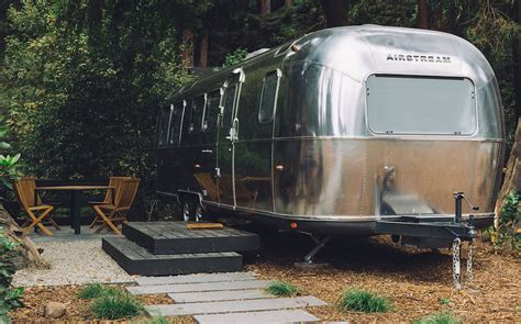 autocamp russian airstream river glamping california trailer camping camp park trailers yosemite luxury modern retro travel hotel wilderness riccardi melanie