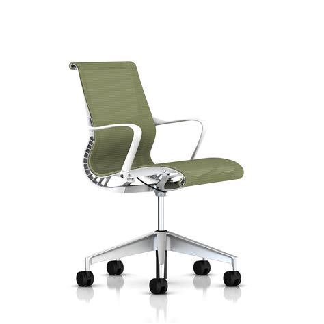 herman miller white frame setu chair office furniture