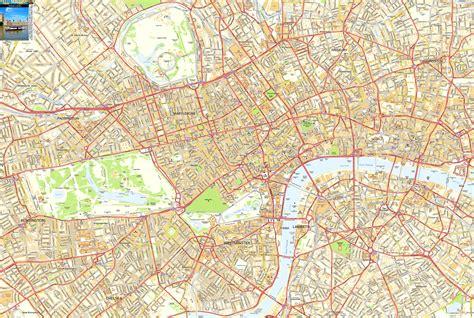 central london offline sreet map including westminter