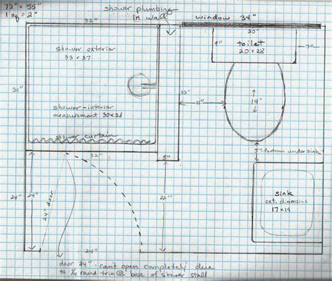 home design graph paper 21 best 4x6 bathroom layouts images on small