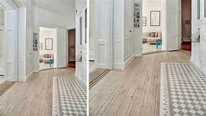 20 sols associant carrelage et bois With porte d entrée alu avec carreaux ciment salle de bain
