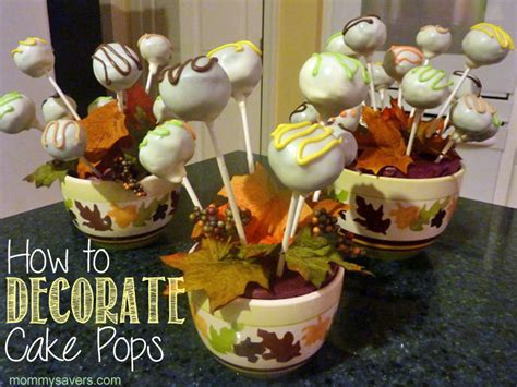 how to decorate cake pops mommysavers
