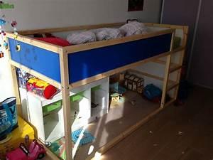 Lit Mi Hauteur Ikea : rideau de lit une cabane sous le lit mezzanine chambre d ~ Melissatoandfro.com Idées de Décoration