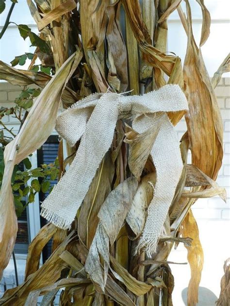 where to buy corn stalks for decorating fall decorating at the front door the o jays burlap and