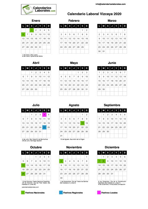 calendario laboral vizcaya
