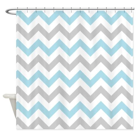 Grey And White Chevron Curtains Uk by Blue And Grey Chevron Shower Curtain By Inspirationzstore