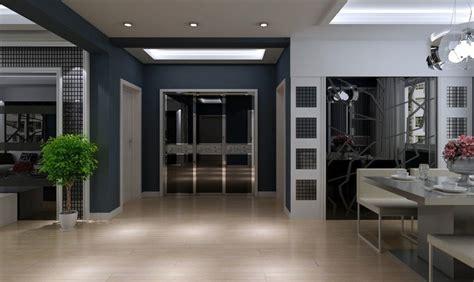 interior design modern simple living dining room white