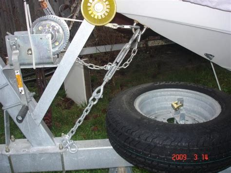 Boat Trailer Safety Chain saftey chain on trailer the hull boating and