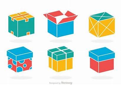 Box Vector Colorful Clipart Graphics Designs Vectors