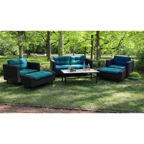 wright wicker patio conversation patio furniture set 6 pieces