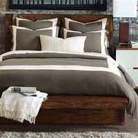 nice contemporary duver cover Breeze Mitered Linen Clay With Pearl Duvet Cover ...