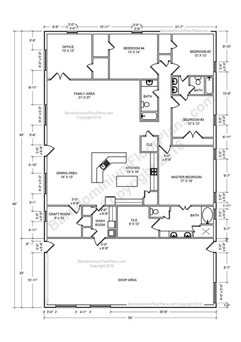 barndominium floor plans pole barn house plans  metal