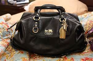 Black Coach Purse Bag