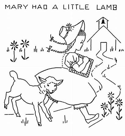 Lamb Mary Had Coloring Pages Away Running