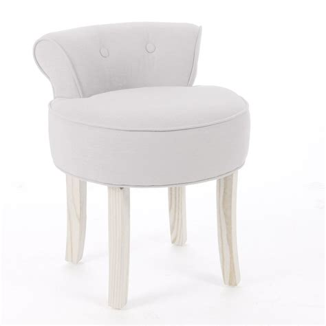 chaise coiffeuse dressing table vanity stool padded seat chair modern bedroom beige cotton linen ebay
