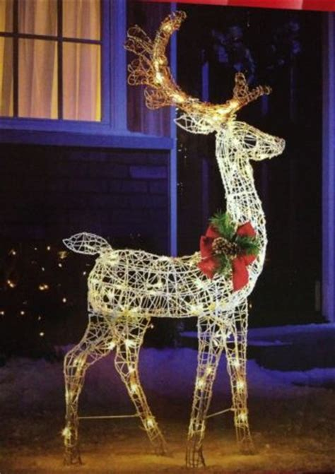 52 quot standing lighted deer pre lit buck outdoor