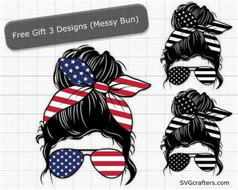 Messy bun clipart free download! Distressed flag svg, American flag svg ,2nd amendment ...