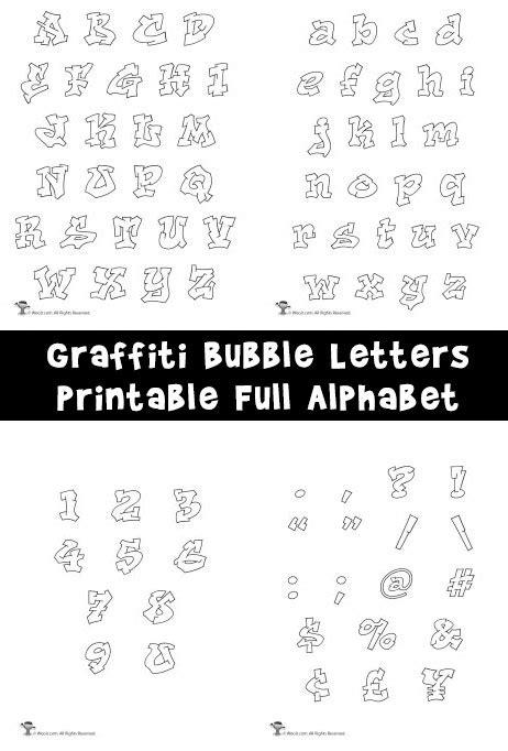 printable graffiti bubble letters alphabet woo jr kids