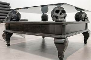 Skull coffee table furniture roy home design for Skull coffee table