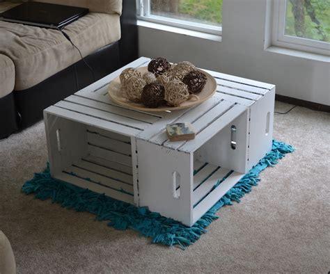 table basse en cagette table basse caisse pomme des cagettes de bois repeint en