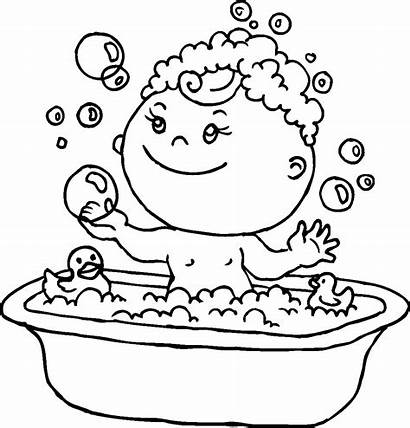 Coloring Pages Duck Rubber Boy Bath Colouring