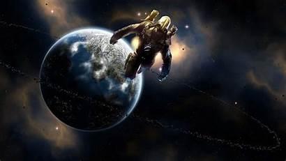 Universe Wallpapers Spaceman Fantasy Ultra Dark Planets