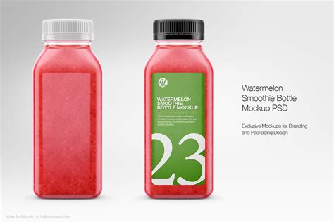 Free for personal and commercial use. Clear Plastic Bottles Mockups on Behance