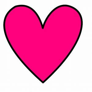 Hot Pink Heart clip art | Clipart Panda - Free Clipart Images