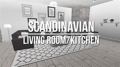 roblox   bloxburg scandinavian living room