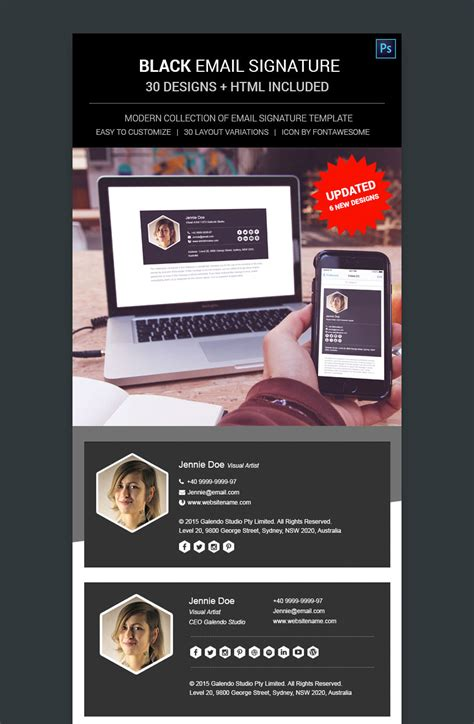 designing an email template 12 professional email signature templates with unique designs codeholder net