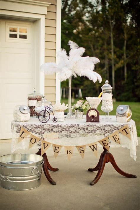 kara s party ideas vintage backyard wedding table party
