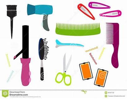 Salon Hair Equipment Illustration Vector Supplies Colorful