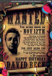 Wanted Birthday Party Flyer Template By Lou606