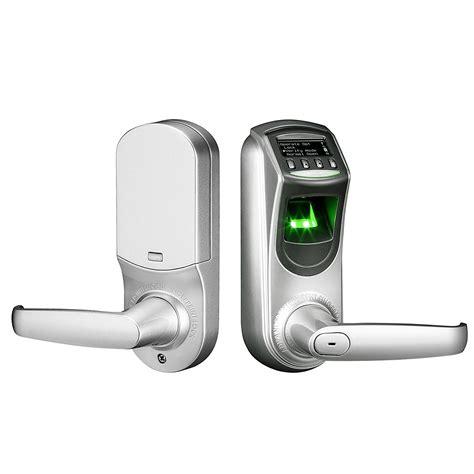 biometric door lock zkteco l7000 u biometric fingerprint smart door lock silver