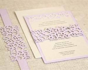 petal cutout wedding invitations wrap design gray pool With sophisticated wedding invitation cricut
