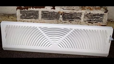 tips baseboard diffuser  control airflow