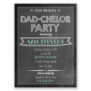 Holiday Party Background Dadchelor Party Baby Shower Invitation