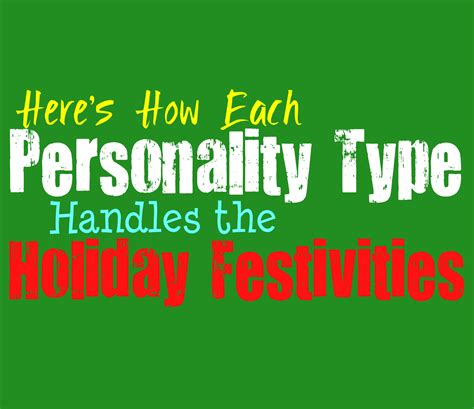 Here's How Each Personality Type Handles Holiday Festivities