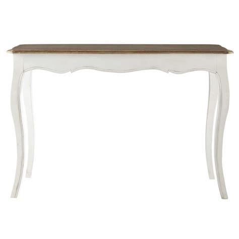 table console en manguier massif blanche   cm versailles maisons du monde