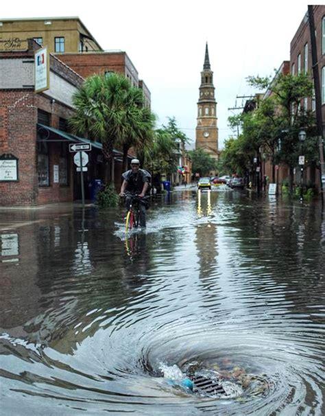 tropical storm fizzles record rain floods charleston